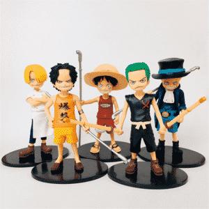 One Piece Childhood Versions Luffy Ace Sabo Sanji Zoro Figures