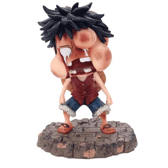 One Piece Funny Monkey D. Luffy Beaten Up Chibi Toy Figurine