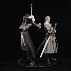 One Piece Greatest Swordsmen Zoro & Mihawk Set Statue Figure