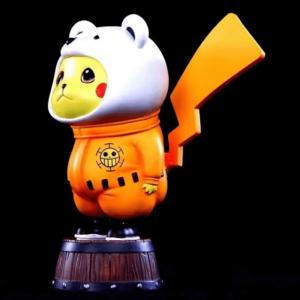 One Piece Heart Pirates Bepo Bear Pikachu Parody Toy Figurine