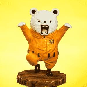 One Piece Navigator Bepo Bear Heart Pirates Statue Figurine