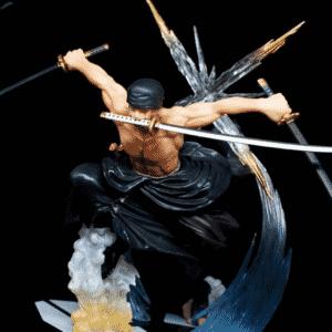 One Piece Roronoa Zoro Three Blade Santoryu Statue Figure