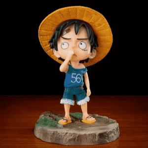 One Piece Wondering Kid Luffy Cute Chibi Statue Figurine