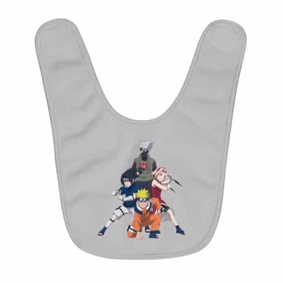 Original Team 7 Naruto Sasuke Sakura And Kakashi Baby Bib