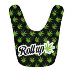 Roll Up That Spliff Joint Weed Leaf Pattern Dope Baby Bib