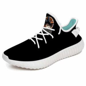 Son Goku Icon Design Minimalist Black Yeezy Sneakers