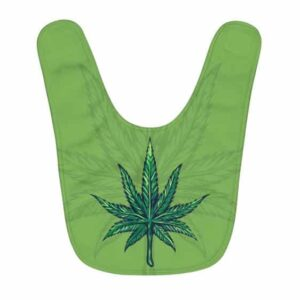 Spectacular Marijuana Cannabis Leaf Artwork Cool Baby Bib