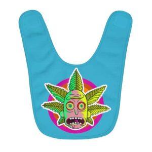 Stoned Rick Sanchez Marijuana Vibrant Trippy Colors Baby Bib