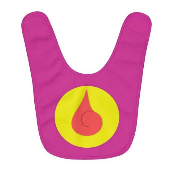 Stunning Hyuga Clan Logo Raspberry Pink Baby Bib