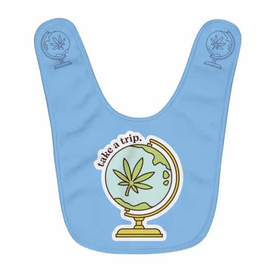 Take a Trip With Weed Awesome Light Blue Baby Apron