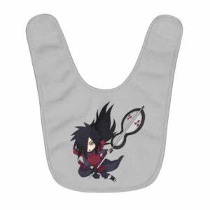 The Legendary Ninja Madara Uchiha Adorable Chibi Baby Bib