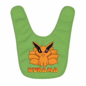 The Nine Tailed Beast Kurama Adorable Chibi Green Baby Bib