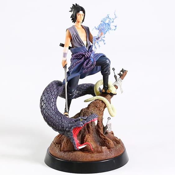 Uchiha Sasuke With Snake Summon Badass Toy Figurine