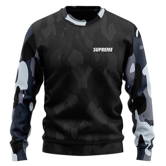 DBZ Supreme Saiyan Streetwear Urban Camo Wool Sweater