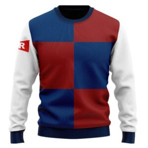 DBZ Android 21 Red Ribbon Army Uniform Wool Sweater