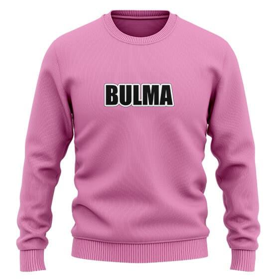 Dragon Ball Z Bulma Minimalistic Pink Wool Sweatshirt