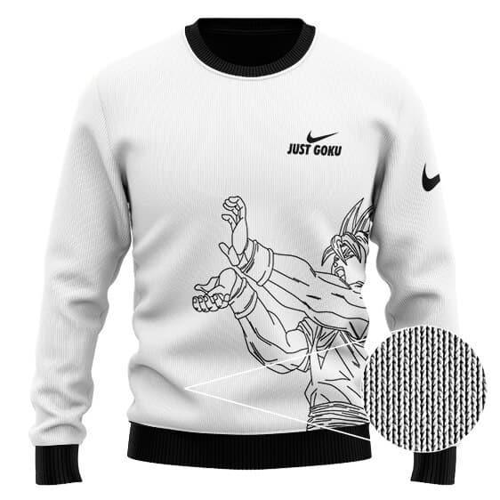 Dragon Ball Z Just Goku Minimalistic Art Wool Sweater
