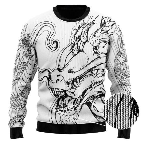 Dragon Ball Z Mighty Shenron Cool Artwork Wool Sweater