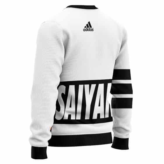 Dragon Ball Super Saiyan Goku Adidas Inspired Wool Sweater