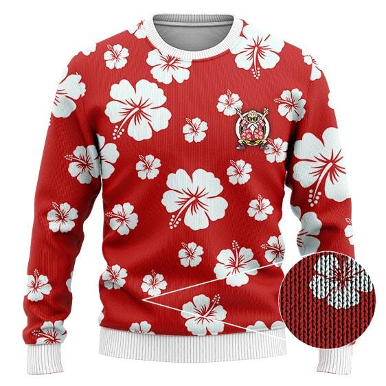 DBZ Master Roshi Hibiscus Floral Pattern Wool Sweatshirt