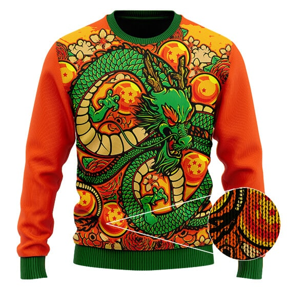 DBZ Eternal Shenron Vibrant Artwork Cool Wool Sweater