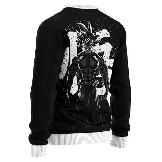 Stunning Kakarot Wisdom Kanji Logo Black Wool Sweater
