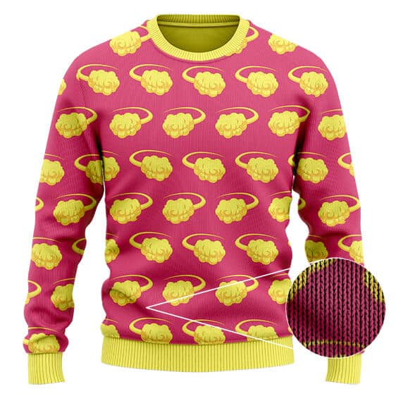 Dragon Ball Z Flying Nimbus Pattern Cute Wool Sweatshirt