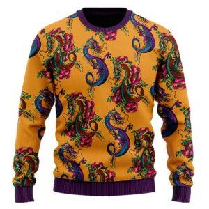 The Mighty Shenron Colorful Artwork DBZ Wool Sweatshirt