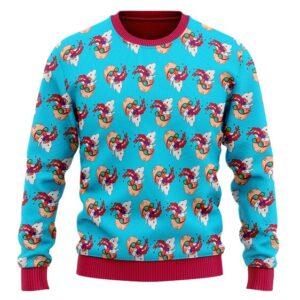 Master Roshi Nosebleed Pattern DBZ Wool Sweatshirt