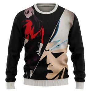 DBZ Ultra Instinct Goku & Jiren Flat Artwork Wool Sweater