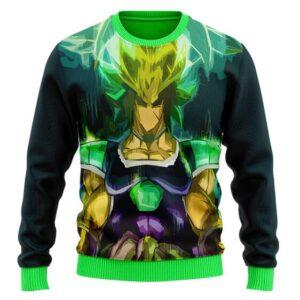 Legendary Saiyan Broly Vibrant Aura Artwork Wool Sweater