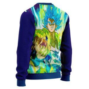Awesome Gogeta Blue Aura Artwork DBZ Wool Sweater