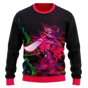 Pink Rose Goku Black Zamasu 3D Art Wool Sweatshirt