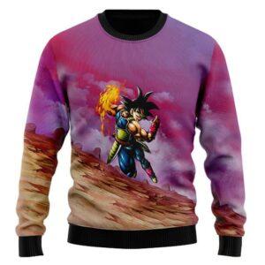 Dragon Ball Z Bardock Swift Attack Dope Wool Sweatshirt