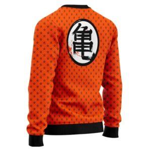 DBZ Kakarot Wisdom Kanji Star Pattern Wool Sweatshirt