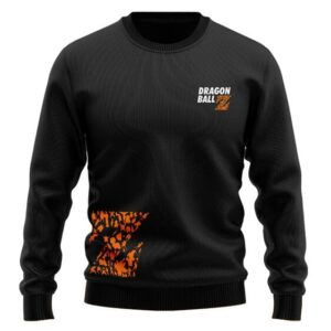 Dragon Ball Z Logo Various Character Silhouette Wool Sweater
