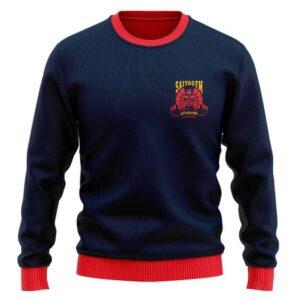 DBZ Vegeta Saiyan Gym Over 9000 Dope Wool Sweater