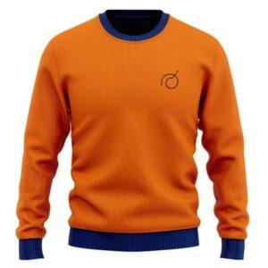 Dragon Ball Super Whis Goku Logo Orange Wool Sweater