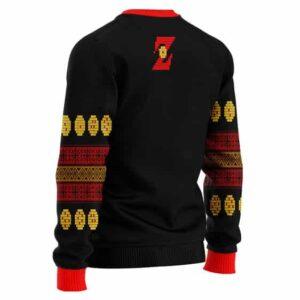 Cool Dragon Ball Z Logo Ugly Christmas Black Wool Sweater