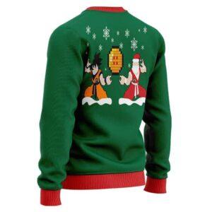 Son Goku With Santa DBZ Ugly Christmas Wool Sweatshirt