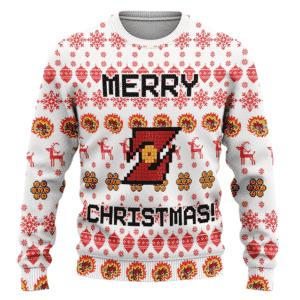 Dragon Ball Z Merry Christmas Ugly Xmas Wool Sweater