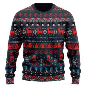 DBZ Vegeta Saiyan Pattern Ugly Christmas Wool Sweater