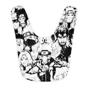 Naruto And Konoha Shinobi Manga Page Design Baby Bib