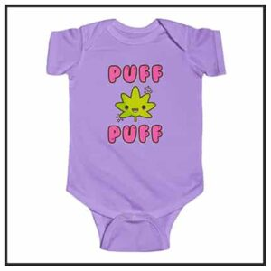 420 & Marijuana Baby Bodysuits & Onesies