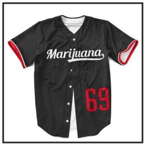 420 & Marijuana Baseball Jerseys
