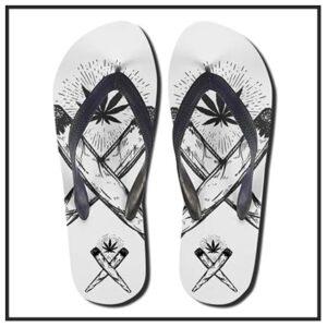 420 & Marijuana Flip Flops & Thong Sandals