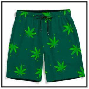420 & Marijuana Men's Beach Shorts