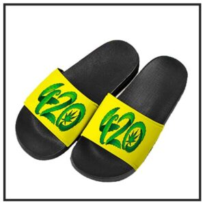 420 & Marijuana Slide Sandals