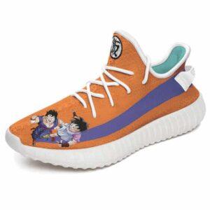 Adorable Gohan and Videl DBZ Kanji Logo Yeezy Shoes