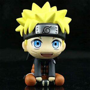 Adorable Sitting Naruto Uzumaki Chibi Style Toy Figurine